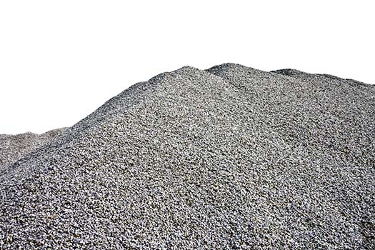 Gray Gravel Hill - White Background